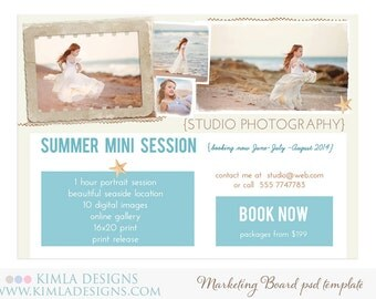 Summer Marketing Board PSD Template for Photographers