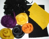 SALE - Merino Wool Tops, Wool Locks, Pre-felted Wool and Soybean Top for Felting and Craft projects, - Creative Wool Kit