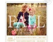 Fall Mini Session Template, Photography Marketing Templates, Marketing Board, Advertisement Template, Photoshop Templates - AD159