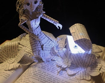 Pandora's Box Book Sculpture with LED