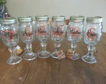 Custom Forever Vinyl Wine Glass Decals - Wine glass custom vinyl stickers