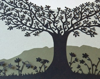 Papercut Ketubah - Tree of Life - Jewish Wedding - Eco-friendly