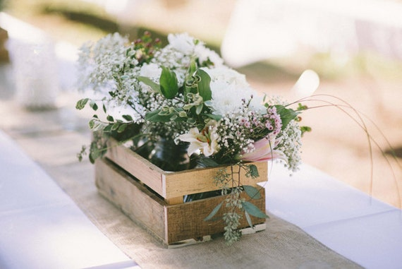 Items similar to rustic handmade wooden crate wedding