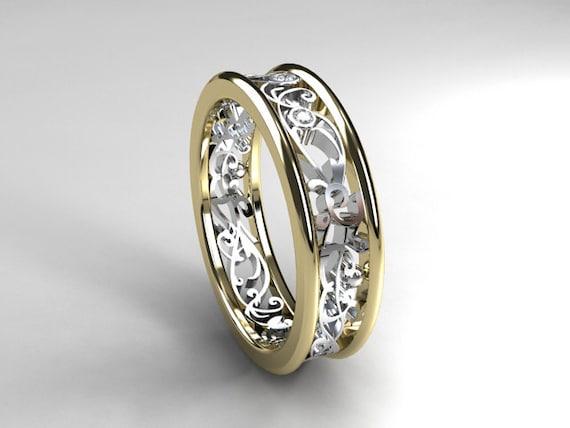 Men 39 S Wedding Band Diamond Ring Yellow Gold Men