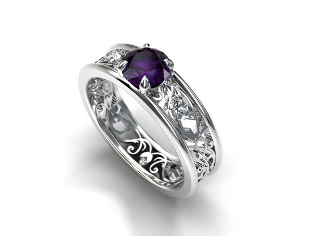 Purple Iolite Filigree Engagement Ring White Gold Ring. Anime Wedding Rings. Birthday Rings. Rose Gold Diamond Bangle Bracelet. Adjustable Bangle Bracelet. Infinity Anklet. Hollow Bracelet. Diamond Tennis Anklet. Fundraising Bracelet