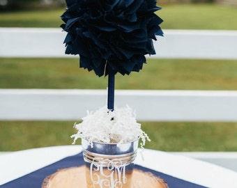NAVY BLUE CENTERPIECE - Wedding Centerpiece - Unique Baby Shower Centerpiece - Graduation Party Centerpiece - Bridal shower centerpiece