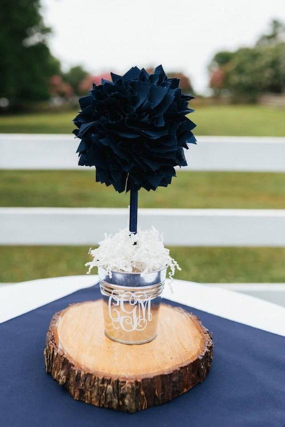 Navy blue centerpiece wedding unique baby