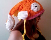 Crocheted Magikarp Inspired Slouch - Made To Order - Normal Or Shiny Colored - Child-Large Adult Sizes