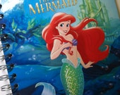 The Little Mermaid  Little Golden Book Recycled Journal Notebook