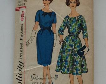Vintage Simplicity 3722 Half Size Slenderette 12 1/2