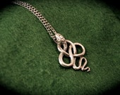 The Lucius Malfoy - Silver Twisted Snake Knot Pendant Necklace