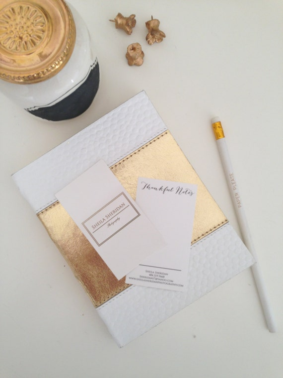 250 Gold Foil Custom Business Cards by PaperPleaseStudio