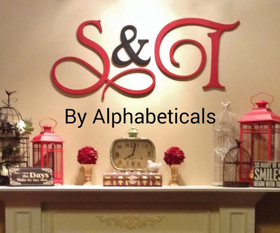 Initial Wall Decor wooden signs wall decor wooden letters wall letters initial