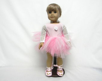 Pink Ballet Outfit (With Slippers)  for 18 inch doll like the American Girl.