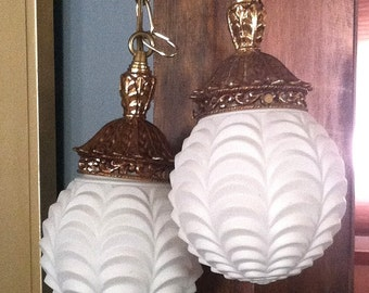 50% OFF***Vintage Art Deco Style Hanging Lamps