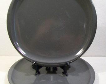 Vintage Boonton Mid Century Dinner Plates Set of 2 Atomic Grey Melmac