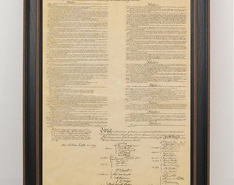 Framed United States Constitution. Free Shipping!