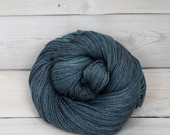 Starbright - Hand Dyed Bluefaced Leicester Silk Heavy Lace Light Fingering Yarn - Colorway: Marquesas