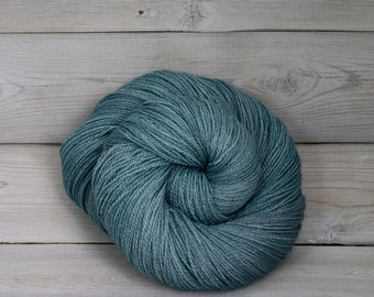 Starbright - Hand Dyed Bluefaced Leicester Silk Heavy Lace Light Fingering Yarn - Colorway: Harbor
