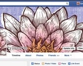 WHITE LOTUS - FACEBOOK Cover and Profile image - digital download