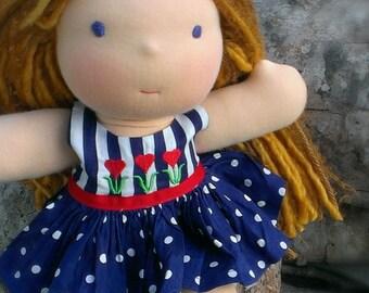 Waldorf Doll Dress -Tulips