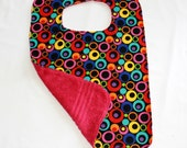 Custom Order for Mira - 3 Adult Clothes Protector - Reversible Adult Bib - Cotton Terry Cloth  - 1 Red, 1 Grey and 1 Black
