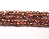 Copper Brown Freshwater Pearls, 7-8mm Nugget Pearls---full strand