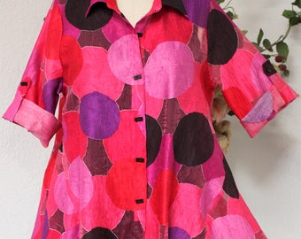 Absolutely Gorgeous Spring Summer High Fashion Shirt In Regular and Plus Sizes