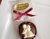 12 Chocolate Bride & Groom Oreo Cookie Favors Wedding Candy Bridal Shower