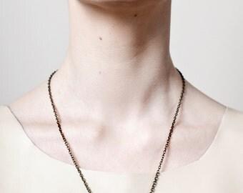 SJÖFN tooth necklace - brown jasper