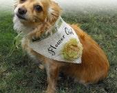 Burlap Wedding Dog Bandana for Pet Flower Girl