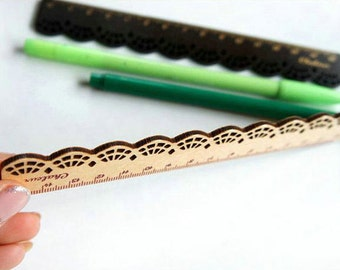 10% OFF Lace Ruler - Wood Ruler - Zakka