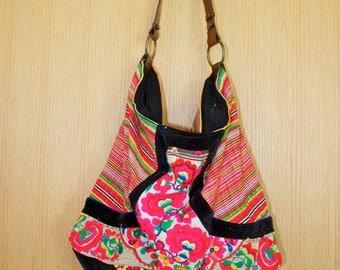 SALE Kasha Handbag Hmong Tribal Fabric Tote