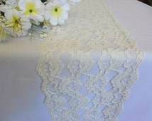 Ivory lace table runner wedding lace runner ivory italian lace wedding table decor party bridal shower