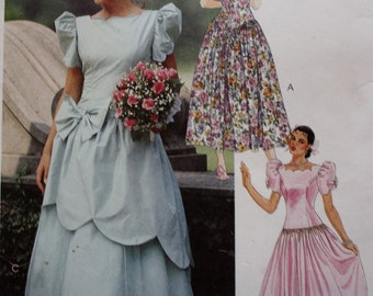 Dropped Waist Dress Sewing Pattern /McCall's 6388 /Bust 34