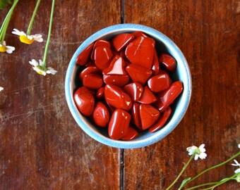 Healing Red Jasper Gemstone Specimen Meditation Wicca Reiki Crystals Tumbled Polished Pocket Stone Calming Anger Pacifying Healing Crystal