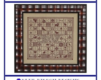 A Sampler Squared (BRD-048) Cross Stitch Design