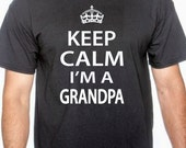gift for grandpa, Father's Day gift, new grandpa, baby announcement, Keep Calm I'm a Grandpa, pregnancy announcement, grandpa birthday