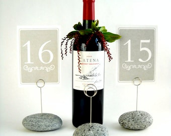 6 Maine Granite Wedding Table Number Holders