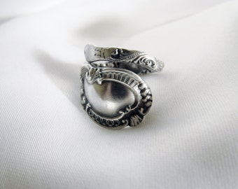 Victorian Spoon Ring Sterling Durgin Silversmith 1890s Unique Gift Idea