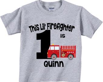 Firetruck 1st Birthday Shirts and Tshirts Tees