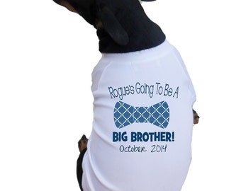 Big Brother Dog Shirts with Bowtie