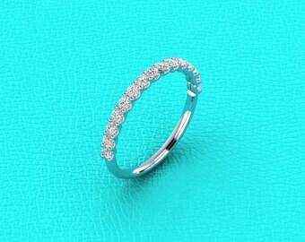 Platinum 2mm U shaped half eternity
