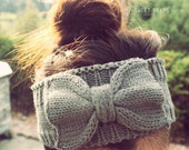 Knitted Bow Headband, Bow Headband, Knit Headband, Knit Headband, Knit Beanie, Bow Beanie, Cute Bow Headband