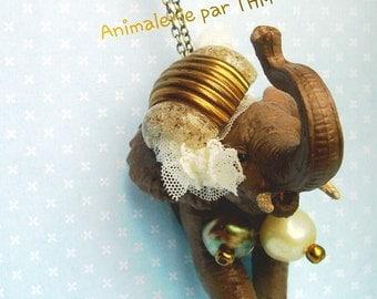 """Animal Necklace """" Elephant """""""
