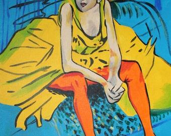 Ballerina Lautrec Van Gogh Mash up Krypilo Original