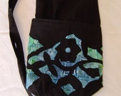 Quilted yoga mat bag.