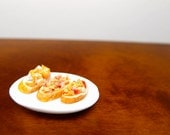 Baguette Sandwich Trio- 1:12 dollhouse miniature food by Nassae Ithilwen