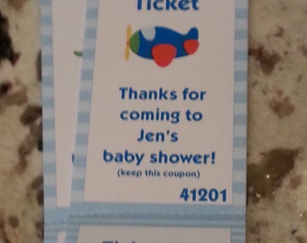 Perforated Boy Baby Shower Raffle Tickets