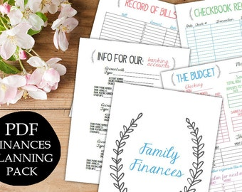 INSTANT DOWNLOAD family binder finances budget bills management household organizer planner printable diy digital pdf Printable Wisdom